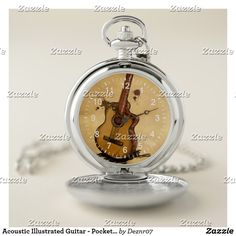 Acoustic Illustrated Guitar - Pocket Watch
