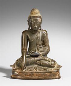 Buddha Shakyamuni. Bronze. Birma, Mandalay. 2. Hälfte 19./20. Jh. - Kunsthaus Lempertz