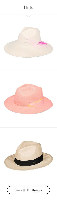 """Hats"" by jaja8x8 ❤ liked on Polyvore featuring accessories, hats, white, sensi studio hats, panama hat, woven straw hat, white wide brim hat, wide brim straw hats, pastel pink and woven hat"