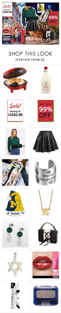 """""""Romwe: contrast ribbed trim baloon sleeve pullover  ( contest with a $35 coupon code prize )"""" by naomig-dix ❤ liked on Polyvore featuring Hamilton Beach, Old Spice, Forever Collectibles, LogoArt, Bling Jewelry and COVERGIRL"""