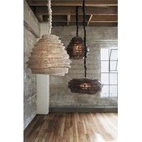 Bamboo Cloud Chandeliers--they look like hives.