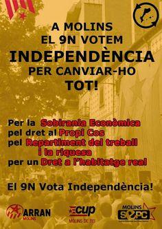 9 N A MOLINS DE REI: 29 OCTUBRE AL CASAL LA BARRINA politicatotcat.blogspot.com #9NPoliticaTotcat El 9N estem convocades a votar sobre la independència d'una part del nostre país, els Països Catalans. Malgrat que l'Estat Espanyol, amb el govern i tot Politica Totcat: 9 N A MOLINS DE REI: 29 OCTUBRE AL CASAL LA BARRIN...