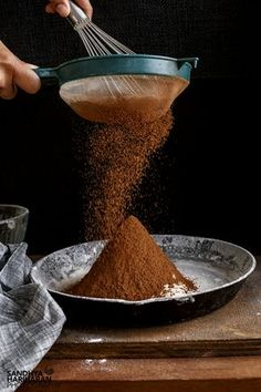 Sifting-Cocoa-Powder B Food, Food Menu, Food Cakes, Chocolates, Eggless Chocolate Cake, Condensed Milk Recipes, Chocolate Powder, Kakao, Celebration Cakes
