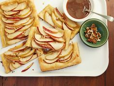 Recipe of the Day: Ree's Quick and Easy Apple Tart          Put in-season apples to work in Ree's impressive, fall-inspired tart. Blanket sheets of ready-to-go puff pastry with apple slices, give them a good drizzle of jarred caramel and top with chopped pecans. This dessert will look like you spent hours on it, but only you will know it took 30 minutes to make.
