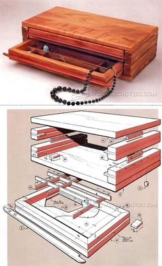 Jewelry Chest Plans - Woodworking Plans and Projects   WoodArchivist.com