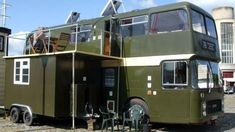 A couple who met on an open-top bus tour 38 years ago convert a classic Bristol VR bus into a mobile home.