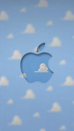 iPhone 5 Wallpaper Apple blue clouds