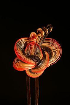 Bamboo Hair Products, Bamboo Art, Tech Art, Japanese Costume, Hair Knot, Japan Art, Hair Ornaments, Lucky Charm, Tie Knots