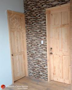 Puertas Elaboradas en Pino 🌲🌲 Diseño personalizado Cali, Colombia 🇨🇴 Cali Colombia, Tall Cabinet Storage, Bathrooms, Furniture, Home Decor, Bathroom Doors, Front Entrances, Clock, Blouses