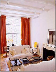 Ina Garten, Paris (orange velvet curtains)