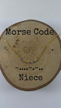 NIECE Morse Code Necklaces Secret Message Dainty necklace