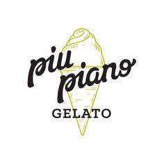 Piu Piano Gelato branding (StudioBah)