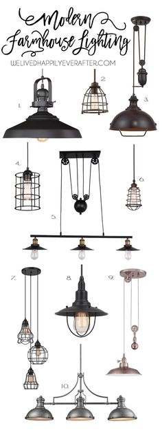 Rustic Industrial Modern Farmhouse Metal Lighting For Your Home Decor