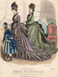 November fashions, 1874 France, Journal des Demoiselles et Petit Courrier des Dames Réunis