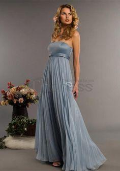 Floor-Length Chiffon Charmeuse Bridesmaid Dresses