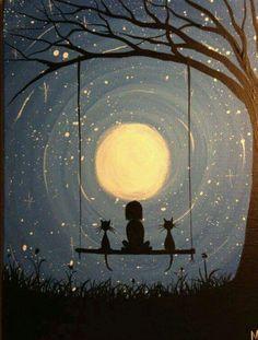 Swinging in the moonlight