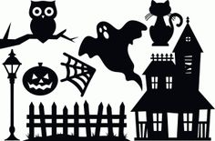 Silhouette Online Store - View Design #47758: haunted house ...