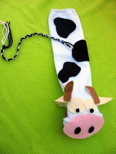 fun little cow puppet
