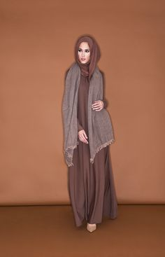 PINK COFFEE WOOL BLEND STOLE | Aab