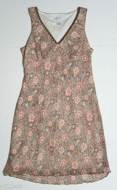 Petite Size 14 V-Neck Crochet Trim Sleeveless Floral Sheer Lined Dress Career http://cgi.ebay.com/ws/eBayISAPI.dll?ViewItem&item=261311920094