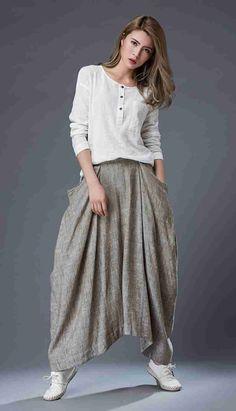 Best 12 Linen skirt maxi skirts skirts for women maxi skirt linen image 7 – SkillOfKing. Skirts With Pockets, Mini Skirts, Tunic Designs, Womens Maxi Skirts, Linen Skirt, Wide Leg Jeans, Skirt Outfits, Straight Skirt, Womens Fashion