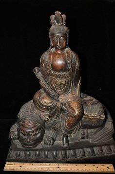 Fine Antique Chinese Wooden Buddha Statue KwanYin Guanyin, Antique Furniture, Buddha, Chinese, Asian, Statue, Antiques, Friends, Ebay