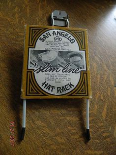 Vintage Auto Western Hat Rack Holder Car Work Utility Truck San Angelo NO. Vintage Auto, Vintage Cars, Utility Truck, San Angelo, Auto Accessories, Western Hats, Flask, Westerns, Trucks