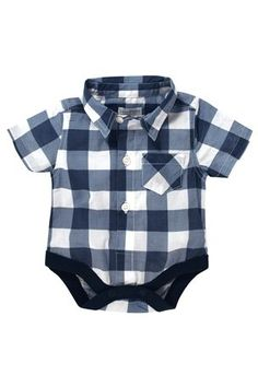 Buy Blue Check Shirt Body (0-18mths) from the Next UK online shop