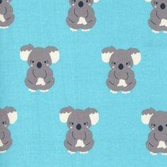 Trikoo: Koala turkoosi Fabrics, Snoopy, Fictional Characters, Design, Art, Tejidos, Art Background, Kunst