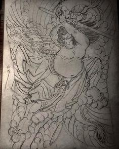 Tokyo Design, Japan Tattoo, Classic Tattoo, Irezumi, Samurai, Stencils, Tattoo Designs, Japanese, Drawings
