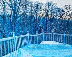 Pointillism landscape in acrylic. School Painting, Pointillism, Painting Lessons, High School, Inspirational, Landscape, Art, Art Background, Scenery