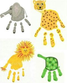 Tierbilder aus Handabdrücken