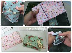 Come fare bustina in stoffa facile da fare, con pochissime cuciture e che, con un unico pezzo di stoffa fa tutto: busta, patella e tasca interna.