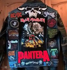 Punk Jackets, Cool Jackets, Patch Pants, Heavy Metal Fashion, Metallica T Shirt, Punk Patches, Battle Jacket, Estilo Rock, Punk Outfits