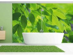 """Mural """"Green Leaves"""". A wall mural from Muralunique.com. https://www.muralunique.com/green-leaves-12-x-8-366m-x-244m.html"""