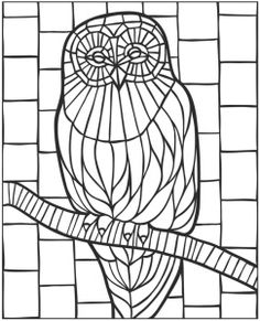 Saint George Stained Glass Coloring page Zentangles Adult