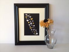 Hearts Paper Wall Art Black White and Gold 8 x by Paper Wall Art, Paper Hearts, Paper Design, Card Stock, Art Pieces, Hand Painted, Colours, Shapes, Black And White