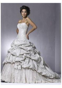 Espléndidos vestidos de novia 2012 de playa strapless simples