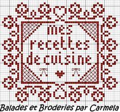 Une petite grille pour décorer un carnet de recettes de cuisine , à broder dans votre couleur préférée ... http://nsa30.casimages.com/img/2012/06/14/120614033344674460.jpg