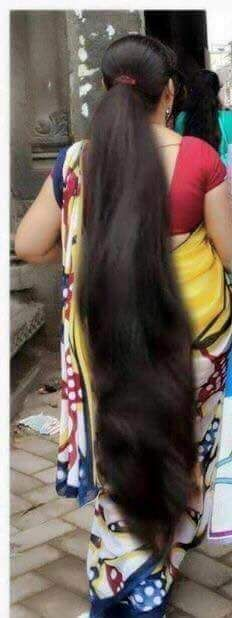 Another one allows me to cut her hair to her hips. She was excited about the cut. But however the massive amount of hair on the floor.not a good thing Long Ponytail Hairstyles, Long Hair Ponytail, Braids For Long Hair, Indian Hairstyles, Long Haircuts, Beautiful Long Hair, Gorgeous Hair, Naturally Beautiful, Beautiful Body