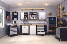 The Home Design Garage Storage Design Ideas The Home Design Garage Design Ideas Armoire Garage, Garage Cabinets, Garage Walls, Garage Doors, Wall Cabinets, Kitchen Cabinets, Garage House, Garage Shop, Dream Garage