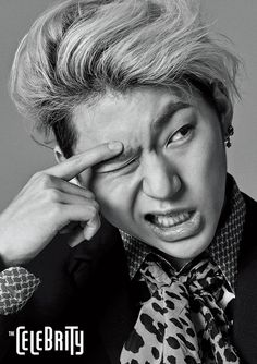 "Block B's Zico graces the cover of ""The Celebrity"" for its September 2015 issue"