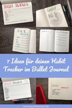 7 Ideen für deinen Habit Tracker im Bullet Journal | 7 Habit Tracker Ideas #bulletjournal