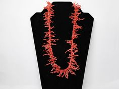 "New Listings Daily - Follow Us for UpDates -  Description & Style:  Spiney Coral Necklace - Opera length, Single Strand - Salmon Colored Natural Branch Coral - #Vintage 1970's 22"" Stick Coral Necklace - Beach Wear offer... #vintage #jewelry #teamlove #etsyretwt #ecochic ➡️ http://etsy.me/2tKBG8L"