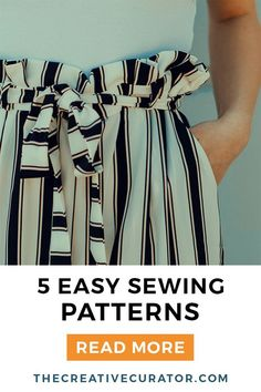Are you a sewing beginner in need of some easy sewing projects? These five easy sewing patterns make really easy and simple sewing projects, either for yourself or as gifts for others. Click now to find five easy sewing patterns! Easy Sewing Patterns, Easy Sewing Projects, Sewing Projects For Beginners, Sewing Hacks, Sewing Tutorials, Sewing Tips, Diy Couture, Leftover Fabric, Christmas Sewing