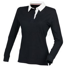 db5f4e9e Front Row Co Women s Premium Superfit Rugby Shirt Slimmer fit rugby shirt  Supersoft peached finish Twin needle hems Side vents with contrast tape  detail.