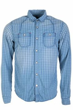 Scotch & Soda Constructed Workwear Shirt Blue #mens #style #fashion #trend #check #checked