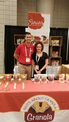 Trade show exhibit by Nuts about Granola. All natural #granola samples from @NutsboutGranola  #sffs15 @tradePA  #WorldTradeCenterHarrisburg #SummerFancyFoodShowNYC
