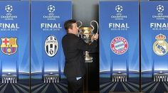2015 UEFA Champions League semi-finals draw is declared. Real Madrid to face Juventus and Barcelona to play Bayern Munich in semifinals on 5,6,12 & 13 May.