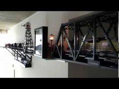 รถไฟจำลอง O Scale Train Tank Cars ( Wall & Ceiling Layout ) - YouTube
